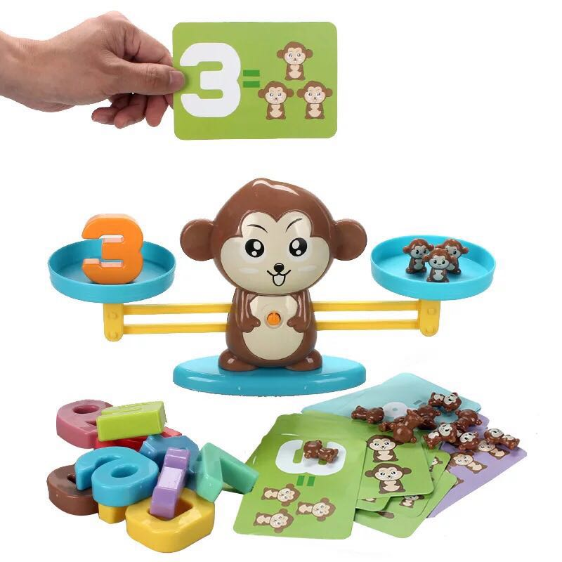 Early Childhood Education Tools Monkey Mathematical Balance Digital Addition Counting Teaching for Children Family Table Game|Math Toys| |  - title=