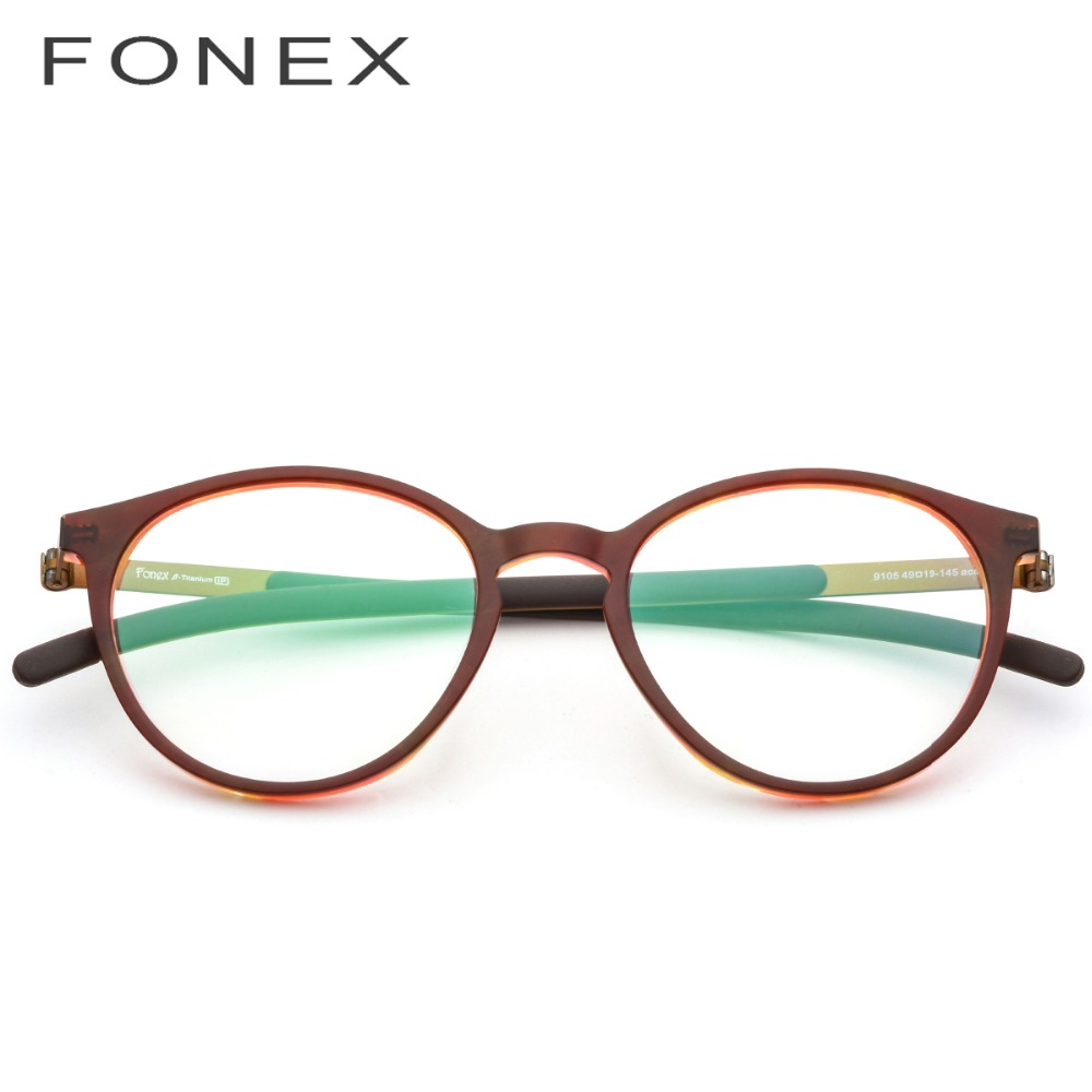 98ac15eb632 B Pure Titanium Glasses Frame Men Women Acetate 2018 New Vintage Round  Myopia Optical Prescription Eyeglasses Screwless Eyewear-in Eyewear Frames  from ...