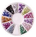 1200 Pcs Projeto Da Arte Do Prego Rhinestones & Decorações 3D Glitter Ferramentas Unhas DIY Acessórios Do Prego Adesivo de Strass Cristal