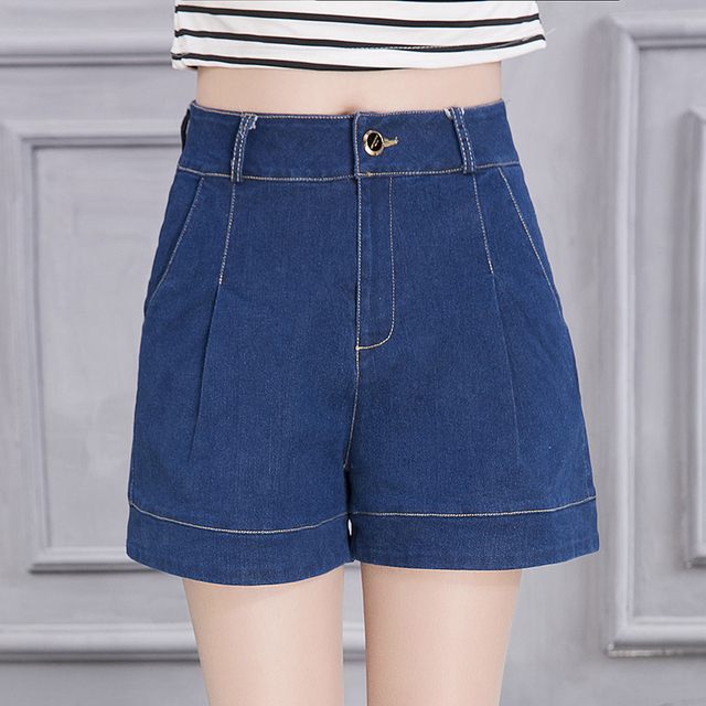 Women New Arrival Denim Shorts Vintage High Waist Cuff Jeans Shorts Girls Street Wear Sexy Plus Size Casual Shorts S-4XL