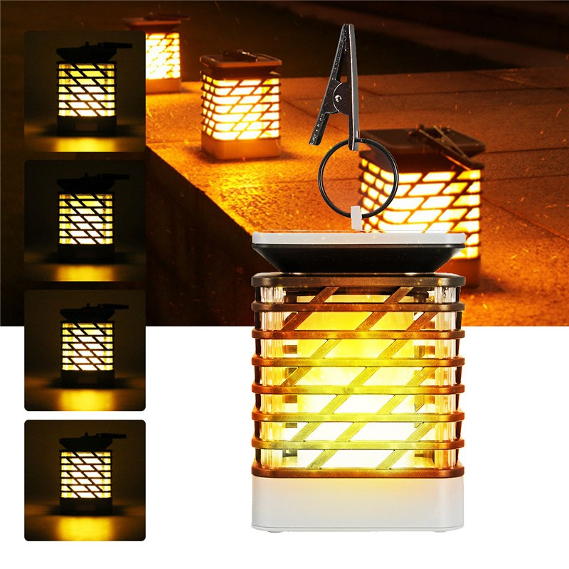 LED Candle Flame Lamp 2835SMD Solar Panel Automatic Charging Lighting 2V ABS Home Garden Decor Night Light Wall hanging Light [day and night] iron classic tealight candle holder wall hanging decor ornament