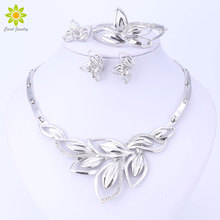 Jewelry-Sets African-Costume Silver-Plated Wedding Leaves-Shape Elegant Latest-New