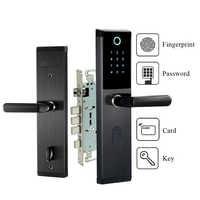 Digital Biometric Fingerprint Password Door Lock Keyless Smart Door Lock Fingerprint+Password+RFID Card+Key Unlocking 4 Ways