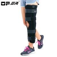 Опер медицинский пателлар Колено поддержки ноги фиксирующий Тутор колено перелом стент Meniscus связка травма колено стабилизировать не отрег...