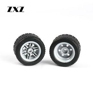 Image 5 - Rueda técnica de 20 piezas, neumático de agujero cruzado, 44309 Hub 56145 para niños, juguetes MOC, accesorio de coche, Technik, ruedas y neumáticos en bloques de construcción