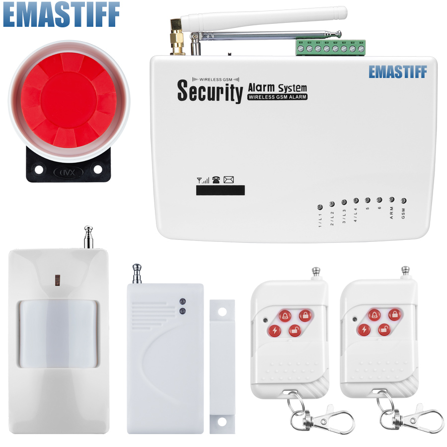 Wireless GSM Alarm System Dual Antenna Alarm Systems Security Home Wireless Signal 900/1800/1900MHz support Russian/English 850 900 1800 1900mhz russian english spanishwired and wireless lcd home security gsm alarm system