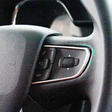 For Citroen C4 2016 Accessories Stainless steel Car Steering wheel Decoration Button Cover Trim car styling