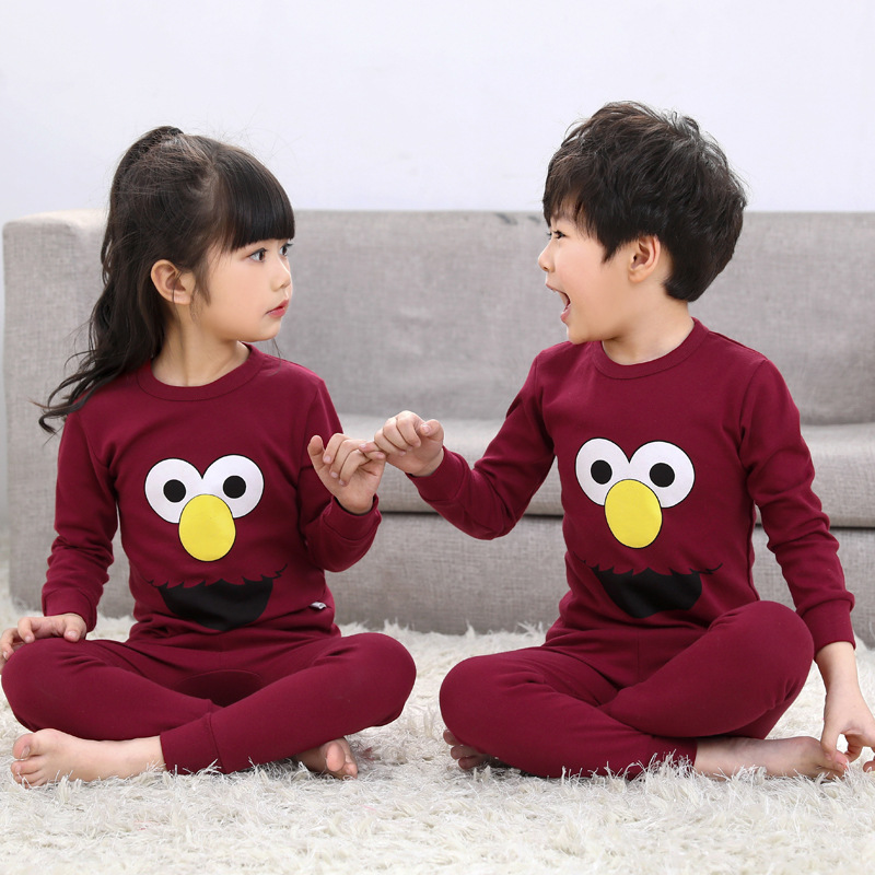 Kids   pajamas     sets   Baby girl and boys clothes christmas   pajamas   pijamas baby boys girls cartoon long sleeve T-shirt+Pants 2pcs