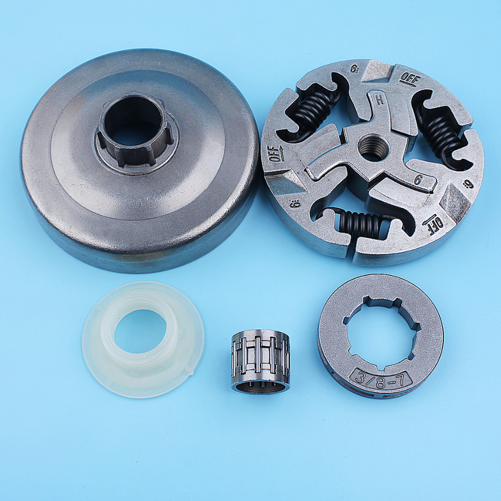 """3/8""""-7T Clutch Drum Rim Sprocket Worm Gear Bearing Kit For Husqvarna 359 357XP 357 XP EPA 355 Chainsaw Replacement Parts"""