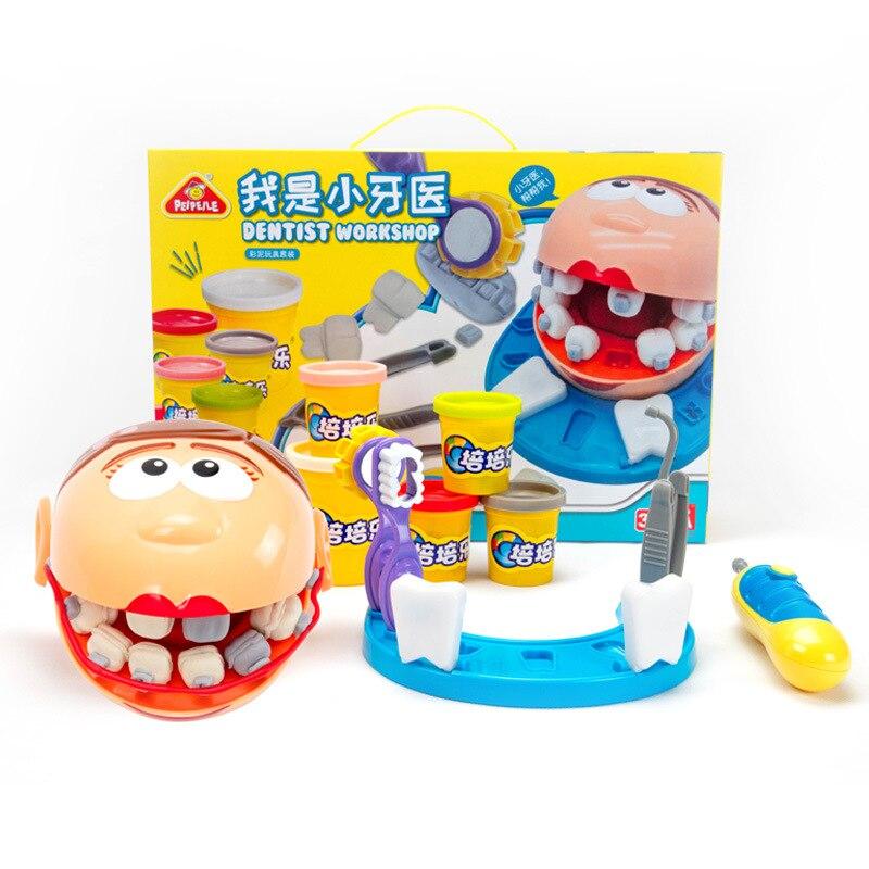 Enfants Dentiste Atelier Pâte À Modeler de simulation Médecin Jouets Protéger les dents maison de Jeu D'apprentissage jouets Éducatifs