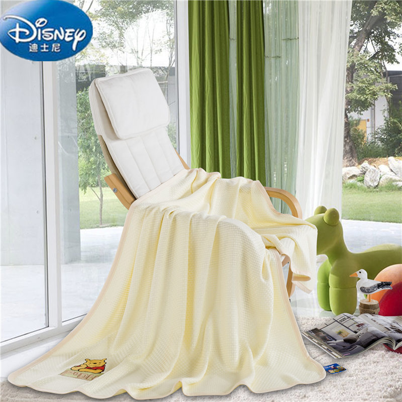 Disney Authentic Yellow Color Winnie The Pooh Blankets Throws Bedding 100x120CM Size Baby Kids Bed Home Bedroom Decoration Throw     - title=