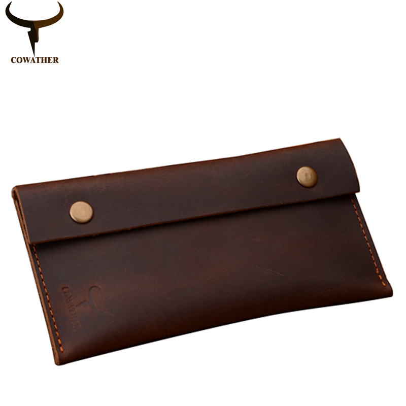 COWATHER 2017 high grade Crazy horse leather fashion cow genuine leather men wallets long male purse two color 102 free shipping cowather 2017 crazy horse leather wallets for men fashion cross style cow genuine leather male purse112 free shipping