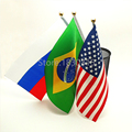 5 Pieces Different Countries Hanging Flag Polyester Customize Flags  Banner Flag Combo National Sports Game Football Bar Flag