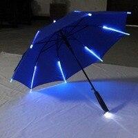 7 Colors LED Luminous Umbrella Rain Kids Adult Flashlight Light Umbrella Changing Color LXY9