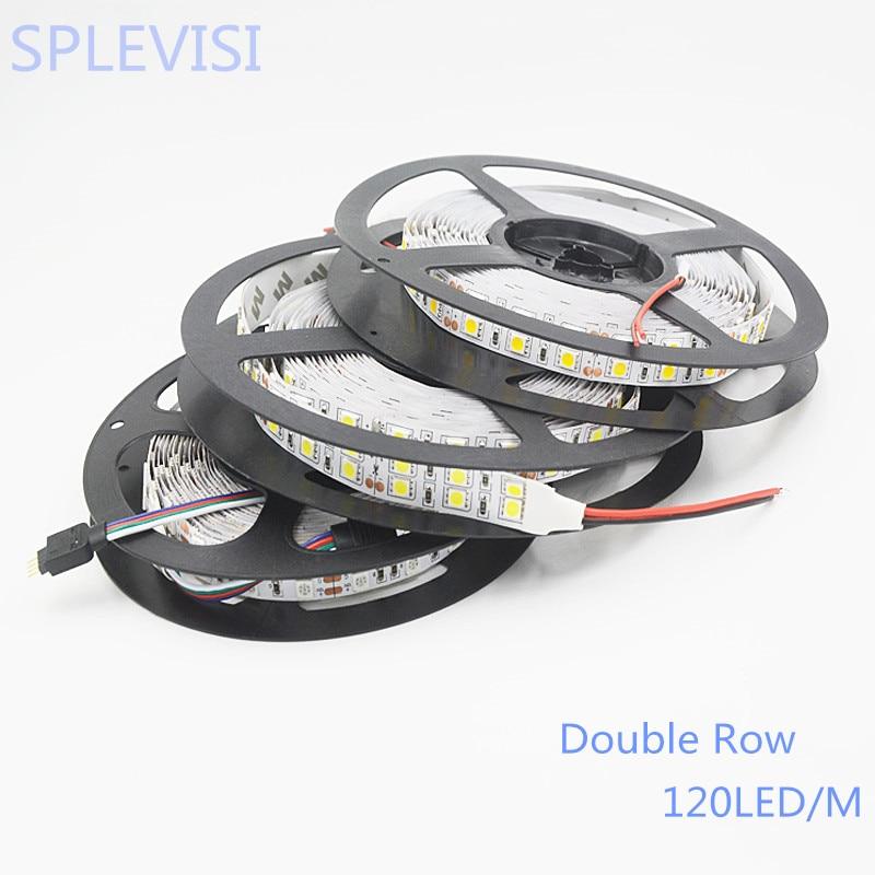 SPLEVISI Nem vízálló DC12v 120leds / m RGB led szalag 5050 5m / - LED Világítás