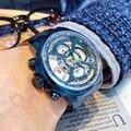 Оригинальные часы NAVIFORCE  мужские спортивные часы синего цвета  модные кварцевые часы с датой