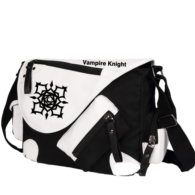 High Quality Vampire Knight Kuran Kaname Printing Cosplay Messenger Bag Unisex Canvas Large Shoulder Bags