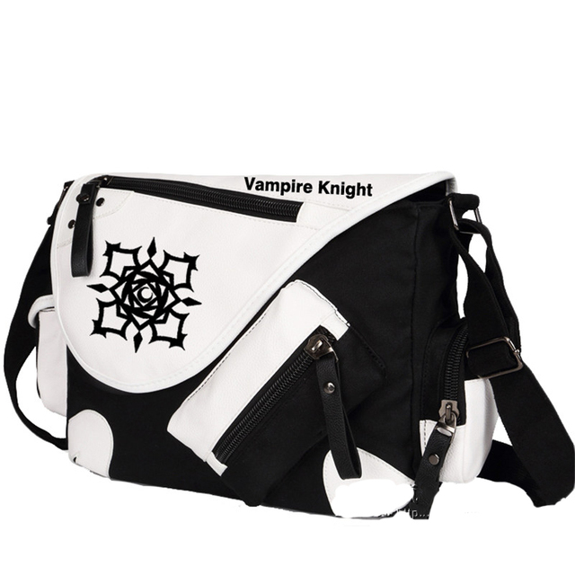 5dbedde1df34 High Quality Vampire Knight Kuran Kaname Printing Cosplay Messenger Bag  Unisex Canvas Large Shoulder Bags