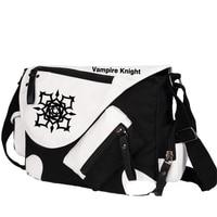High Quality Vampire Knight Kuran Kaname Printing Cosplay Messenger Bag Unisex Canvas Large Shoulder Bags