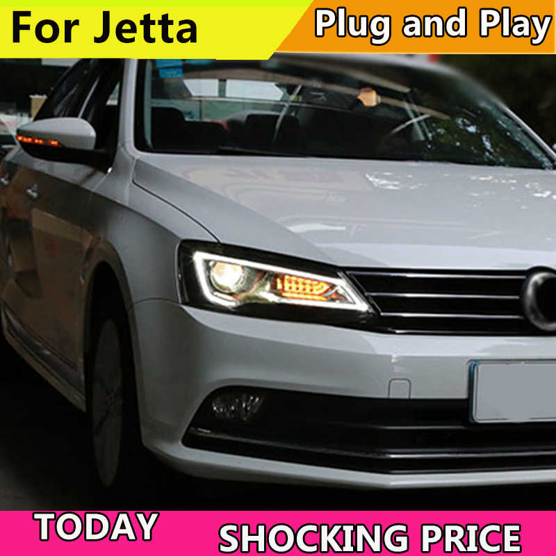 Auto Styling Koplampen Voor Voor Vw Jetta 2011-2017 Led Koplamp Hoofd Lamp Vw Jett Led-dagrijverlichting led Drl Bi-Xenon Hid