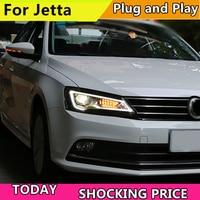 Car Styling Headlights for For VW Jetta 2011 2017 LED Headlight Head Lamp VW Jett LED Daytime Running Light LED DRL Bi Xenon HID
