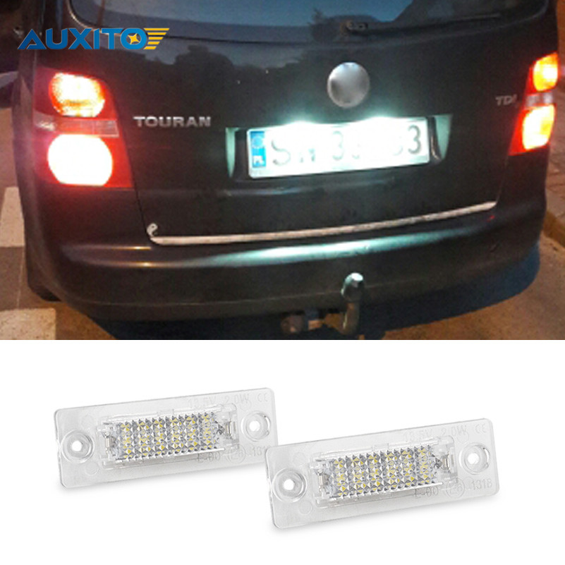 No Error Car LED License Plate Light Number Plate Lamp Bulb For VW Touran Passat B6 B5.5 T5 Jetta Caddy Golf Plus Skoda Superb genuine for lenovo thinkpad yoga 14 cpu cooling fan heatsink 00hn607