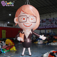 customized 3.5m tall inflatable game figure / 11.5ft tall inflatable cartoon teacher model toys