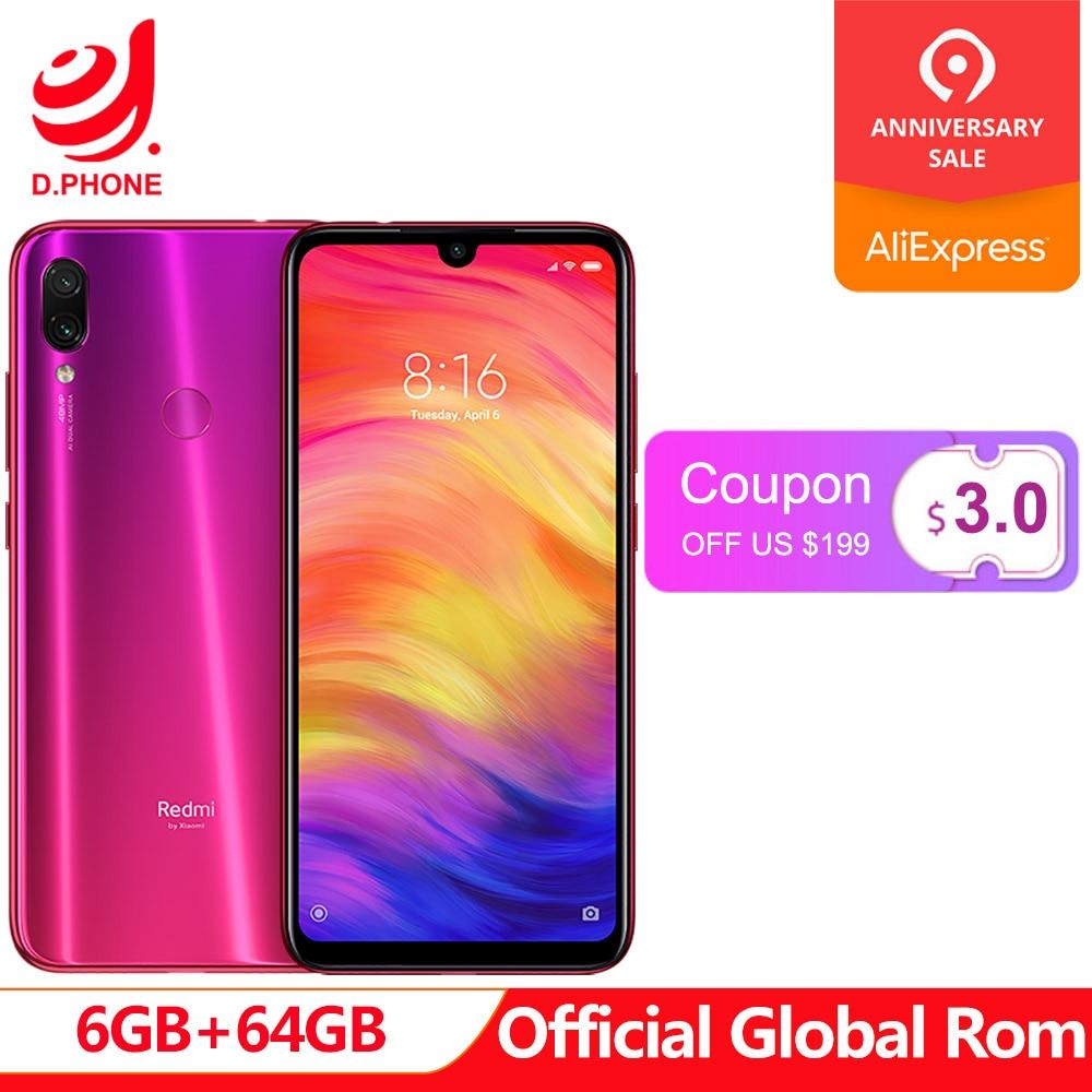 ROM globale Xiaomi Redmi Note 7 6 GB RAM 64 GB ROM Snapdragon S660 Octa Core 6.3
