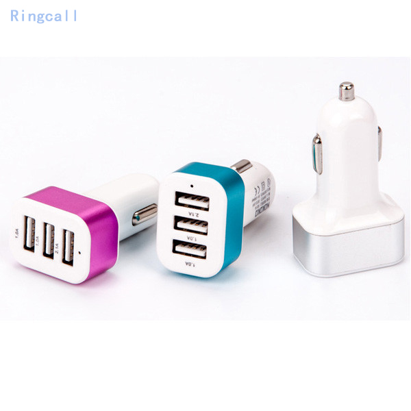 USB Car Phone Charger 3 Ports USB Car Charger For Huawei P8 Lite P7 P6 Honor 8 7 6 Ascend P8 P7 P6 And Other phones Car-charger