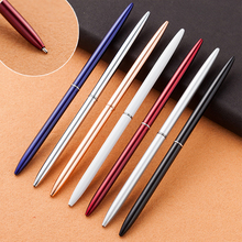 New Luxury Cute Metal Ballpoint Pen Creative Slender Rotary Ball Pens For Writing Business Student Gift Office School Supplies