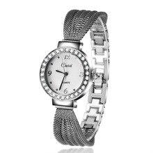 Cussi Silver Watch Women Multiple Bracelets