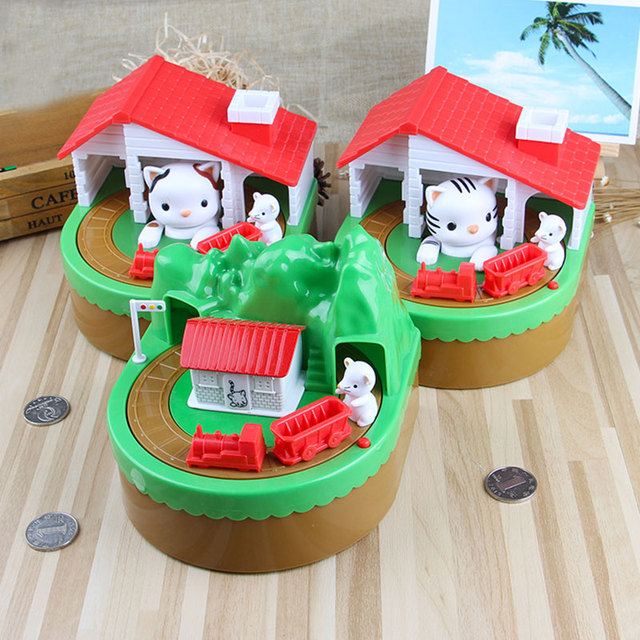 cat scratch mouse piggy bank funny money boxes cute christmas gifts dolls gifts electric cats stealing
