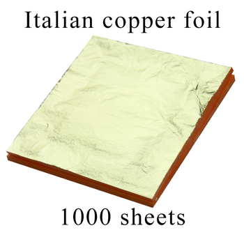1000 sheets Italian copper material imitation gold leaf foil gilding sheet for home art crafts decorations 16X16cm free shipping