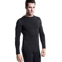 Winter Men Plush Base Layer Long Sleeve Thermal Underwear Winter Undershirt T-Shirt Tops Men Shirt