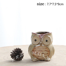 silicone mold 3d Little owl handsome shape flower pots cute animals molds cement clay mould divya srinivasan little owl s audiobook collection