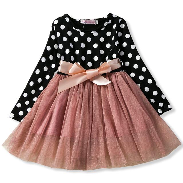 Baby Long Sleeves Polkadot Dress for Girl