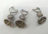 2sets Micro Pave Diamond 15x40 Micro Pave Cubic Zirconia Jewelry Clasp Hook CZ Micro PavePanther Head