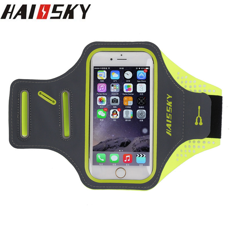 Haissky 5.5 ''universal correr sport band brazo case cover para iphone 7 más 6 6