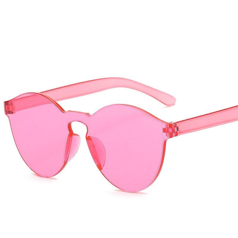 Lunettes De soleil d'été sans monture femmes marque Designer nuances transparentes lunettes De soleil couleur fraîche UV400 Oculos De Sol gafas