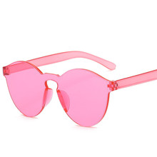 Summer Rimless Sunglasses Women Brand Designer Transparent S