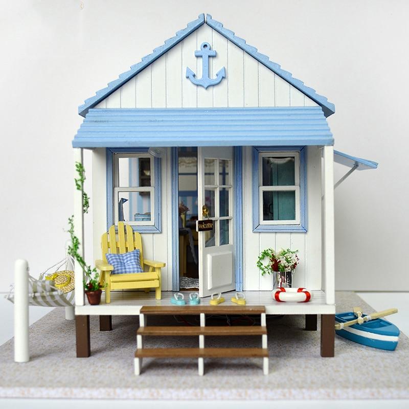 Nouveau bricolage Miniature en bois maison de poupée Kits de meubles jouets à la main artisanat ciel Miniature modèle Kit jouets pour enfants cadeau