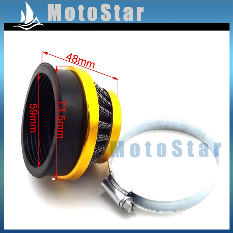 Gold Racing ATV 60mm Air Filter Clearner For Gas Motorized Bicycle Push Mini Moto Pocket Bike Quad 4 Wheeler Motorcycle