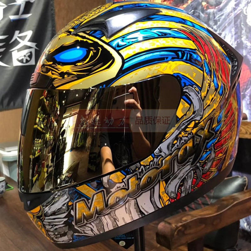 Offre Spéciale Harley Moto Hommes Racing Casque Chef Plein Visage Moto Casque Vieux droit roi Moto casques Approuvé DOT