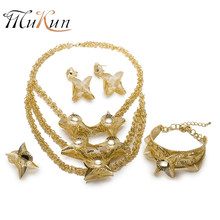 MUKUN Fashion bridal jewelry sets Brand Dubai Jewelry sets Wholesale jewellery sets for women nigerian Wedding Jewelry Design(China)