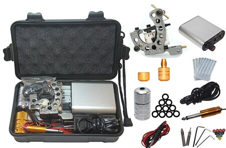2014 Kit Tattoo Complete Machine with Best Quality Permanent Makeup Machine For Tattoo Equipment Cheap Gray Tattoo Machines china wholesale high quality cheap tattoo machines with best rotary tattoo machines price for permanent makeup free shipping