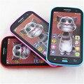 New 3d falando gato língua russa o brinquedo falando repete crianças da primeira infância educação eletrônico tablet interativo toys