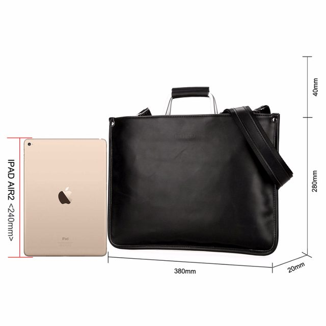 Vicuna Polo Simple Design Leather Men Briefcase With Metal Handle Business Doent Bag Clic Office Mens Bags Handbag