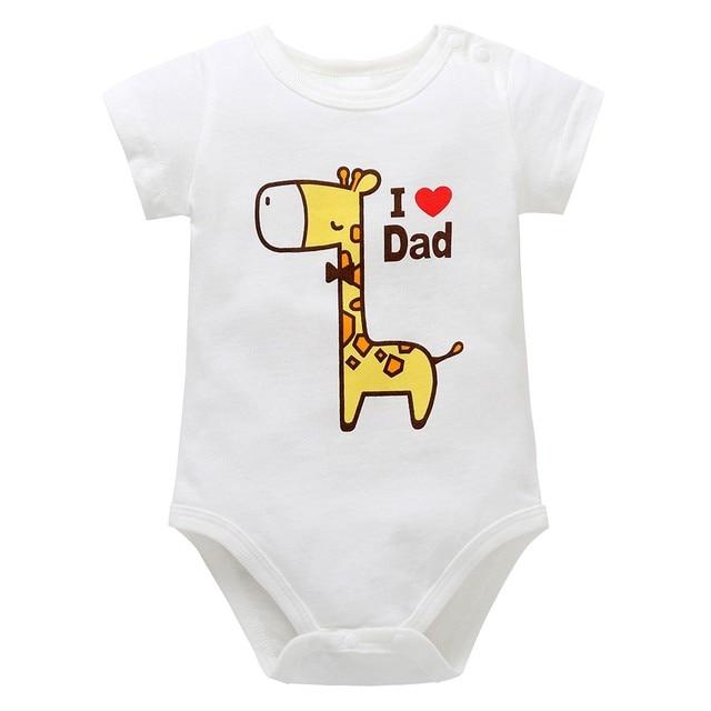 2ec865838 Newborn Baby Boys Girls Giraffe Cartoon Letter Print Rompers ...