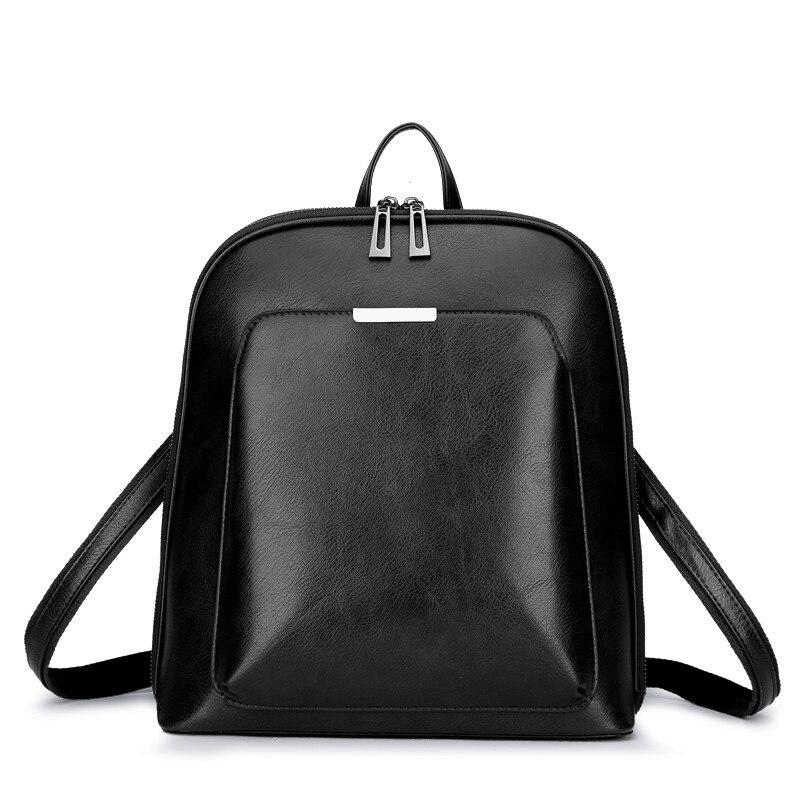 Vintage femmes sacs à dos 2018 en cuir femmes sac à dos sacs d'école pour filles adolescentes femme épaule sac de voyage mochila femininas