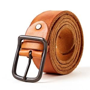 Image 3 - En kaliteli erkek hakiki deri kemer tasarımcı kemerleri erkekler lüks kayış moda vintage pin toka kot mağaza yıldız ürünleri